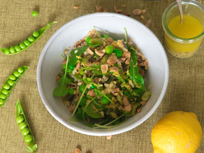 Spring Vegetable and Grain Salad with Green Garlic Vinaigrette