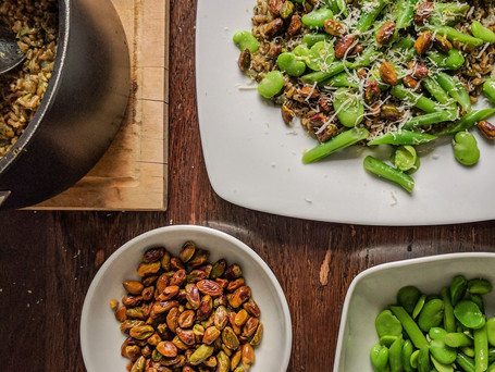 Farro and Spring Vegetable Risotto