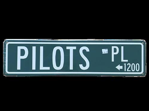 """Pilots Place"" Road Sign"