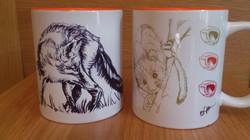 Fox and Dormouse mugs