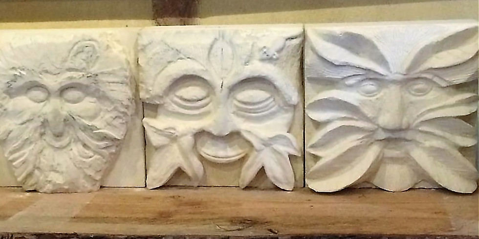 STONE CARVING (Green Man/Animal Relief) (1)
