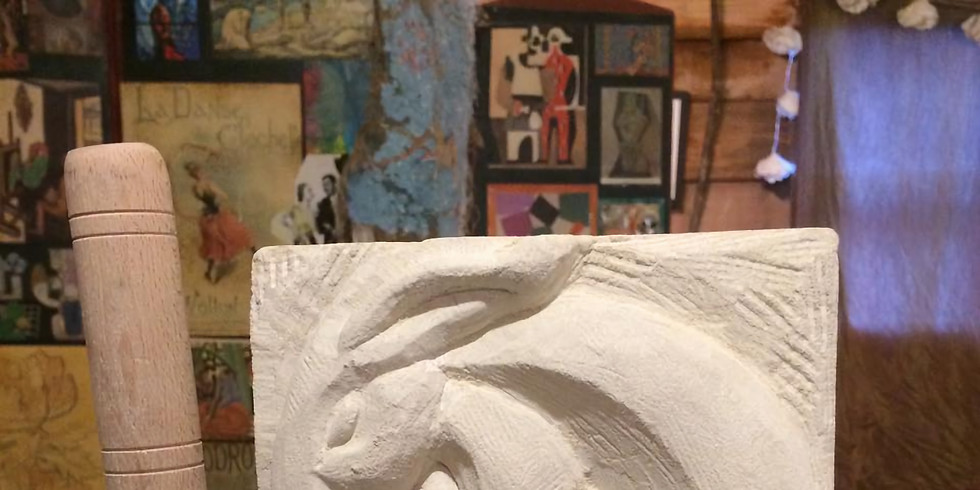 STONE CARVING (Small stone relief) SOLD OUT