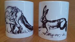 Fox and Hare Mugs