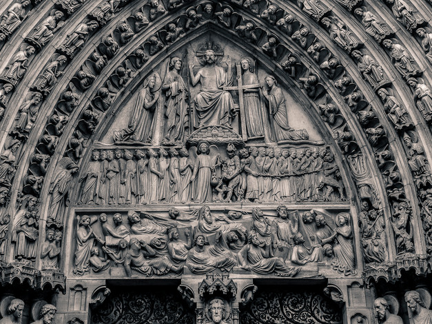 Day of Judgment Portal, Notre-Dame Cathedral, Paris, France