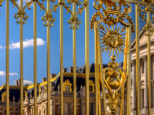 Mask of Apollo, Golden Gate of Versailles, France