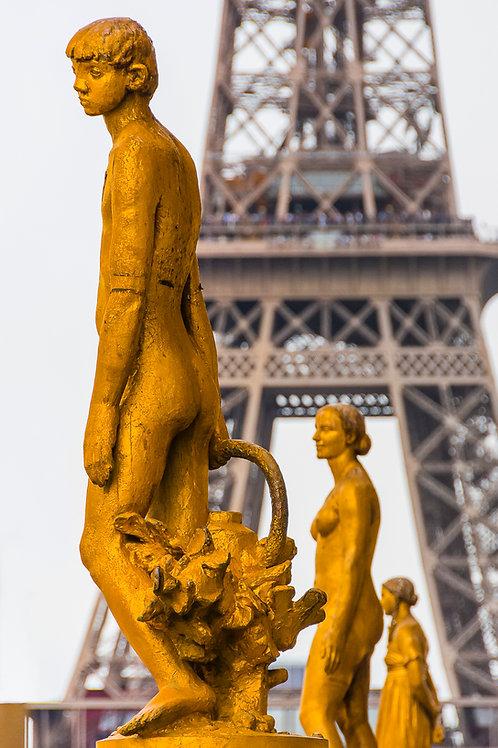 Golden Statues, Trocadero Gardens, Paris, France