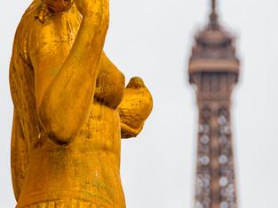 Golden Statue, Trocadero Gardens, Paris, France