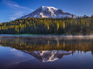 Morning at Reflection Lake, Mount Rainier National Park, Washington