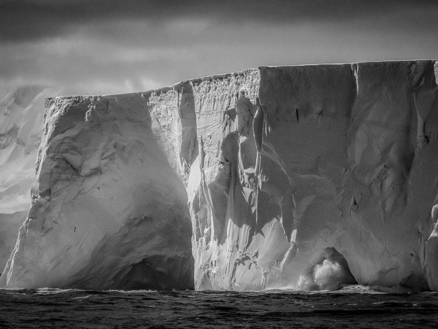 Large Tabular Iceberg & Wave, Flandres Bay, Antarctica