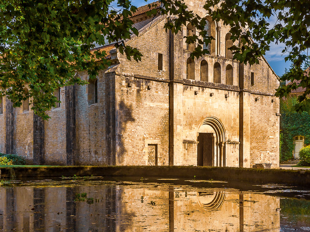 Romanesque Abbey Church of Fontenay, Burgundy, France