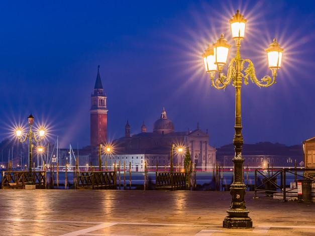 Venetian Lamp Post, Piazza San Marco, Venice, Italy