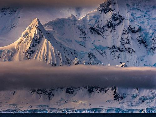 First Light, Antarctic Mountains, Gerlache Strait, Anarctica