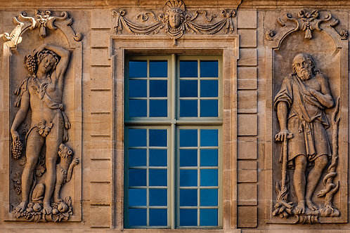 Facade Detail, Hotel de Sully, Marais District, Paris, France