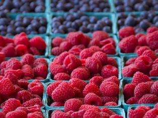 Fresh Berries, Pike Place Market Sign, Seattle, Washington