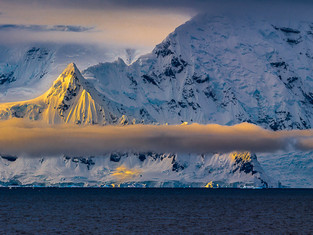 First Light, Gerlache Strait, Antarctica