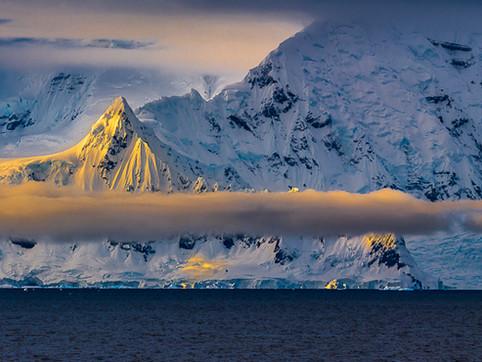 First Light, Gerlache Strait, Antarctica