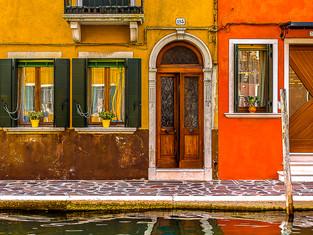 Burano Facades, Venice, Italy
