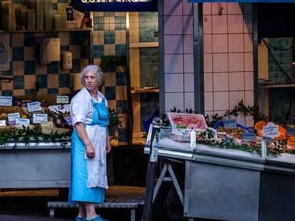 Fishmonger, Montmatre, Paris, France