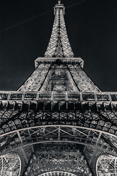 Eiffel Tower at Night (Vertical), Paris, France