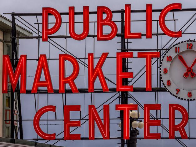 Pike Place Market Sign, Seattle, Washington