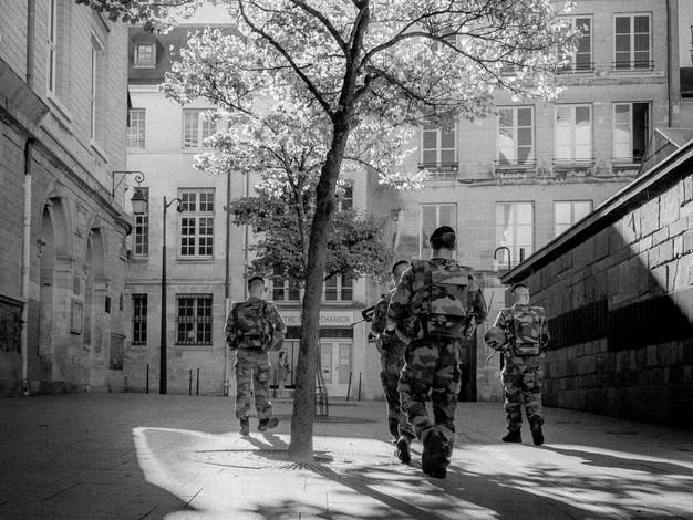 Army Patrol, Paris, France