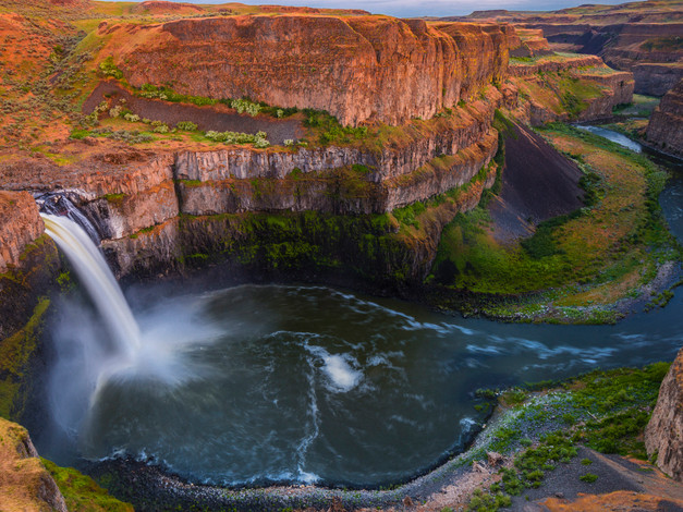 Palouse Falls at Twilight, Franklin County, Washington