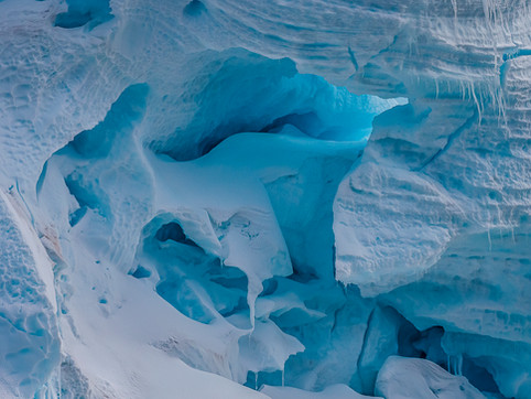 Detail of Glacial Headwall, Melchior Islands, Antarctica