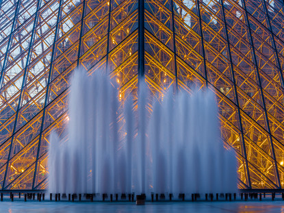 Water, Glass and Light, Musee Louvre, Paris, France