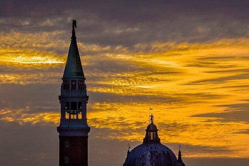 Campanile and Dome, Church of San Giorgio Maggiore, Venice, Italy