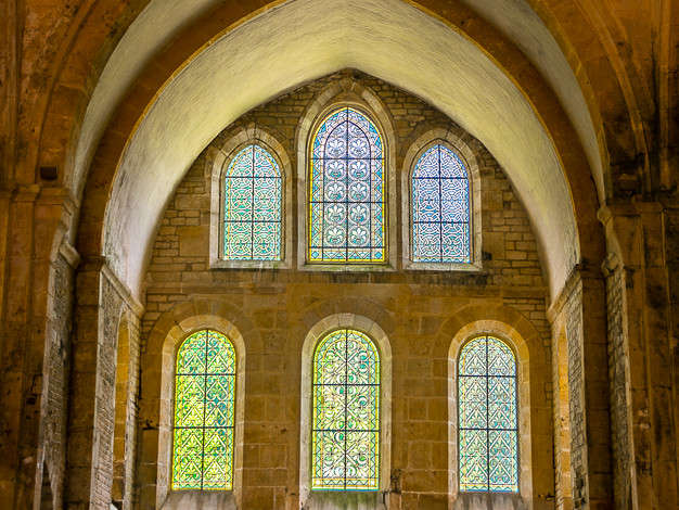 Altar Windows, Abbey Church of Fontenay, Burgundy, France