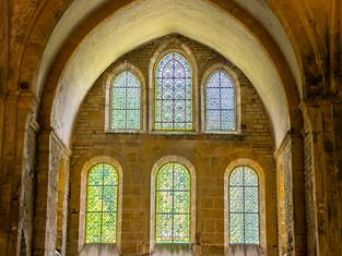 Altar Windows, Abbey Church of Fontenay, Burgundy, France