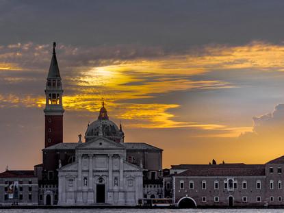 Golden Dawn, Church of San Giorgio Maggiore, Venice, Italy