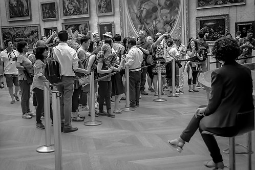 "At the ""Mona Lisa"" by Leonardo da Vinci, Musee Du Louvre, Paris, France"