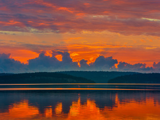 Radiant Sunrise, Vancouver Island, British Columbia