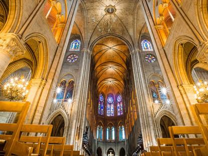 Nave, Notre-Dame Cathedral, Paris, France