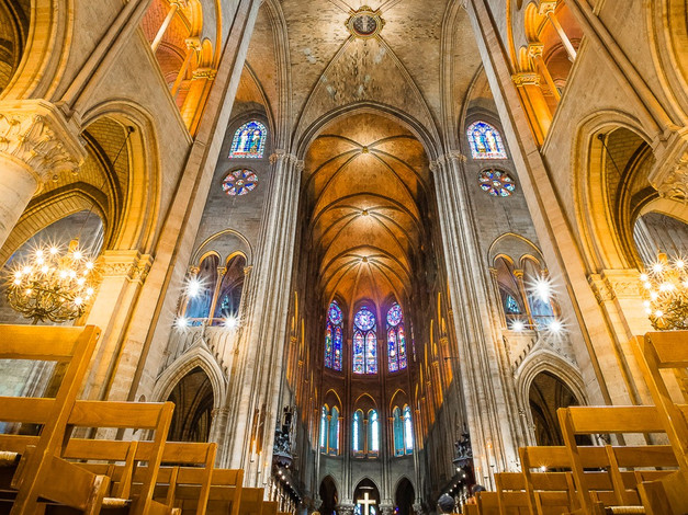 Nave, Notre-Dame Cathedral, Paris, France