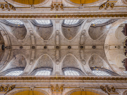 Ceiling and Great Organ, Church of Saint-Sulpice, Paris, France