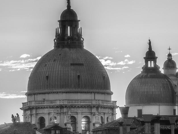 Domes of Santa Maria Della Salute, Venice, Italy