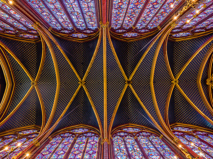 Celestial Ceiling, Sainte-Chappelle, Paris, France
