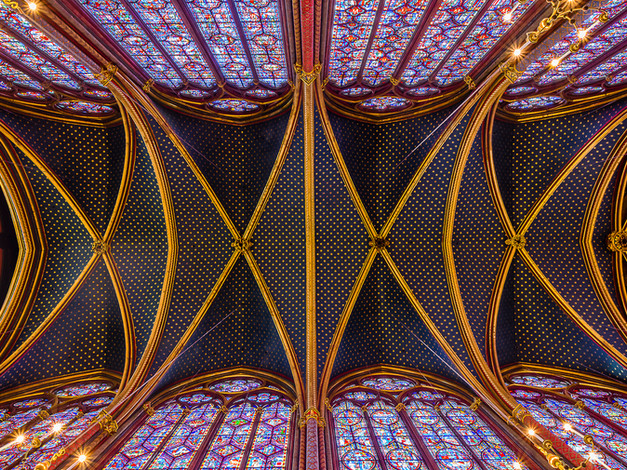 Celestial Ceiling, Sainte-Chappelle, Paris, France