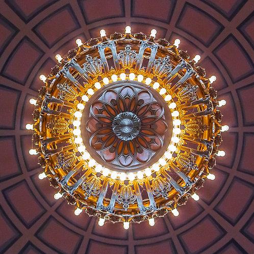 Tiffany Chandelier, State Capitol Rotunda, Olympia, Washington