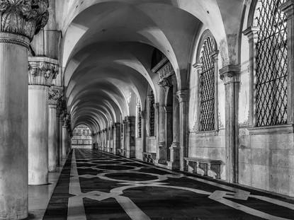Arcade, Doge's Palace, Venice, Italy