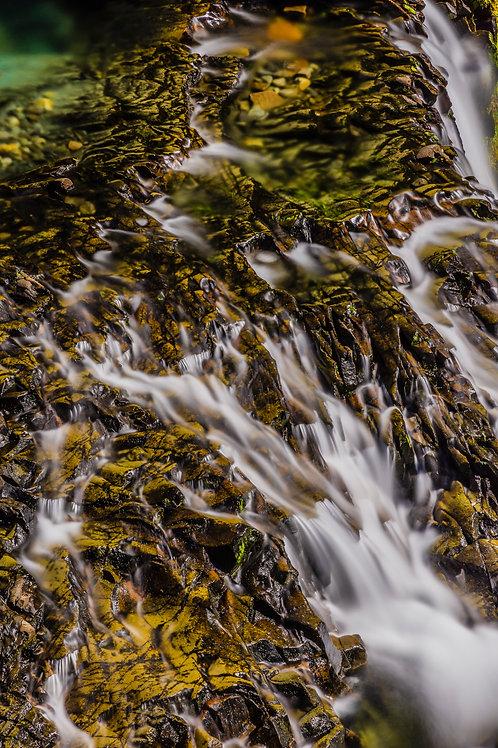 Andesite Ledge of Narada Falls, Mount Rainier National Park, Washington