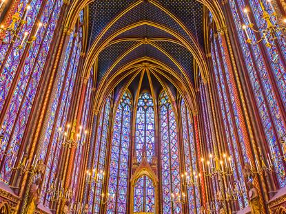 Stained Glass, Sainte-Chappelle, Paris, France