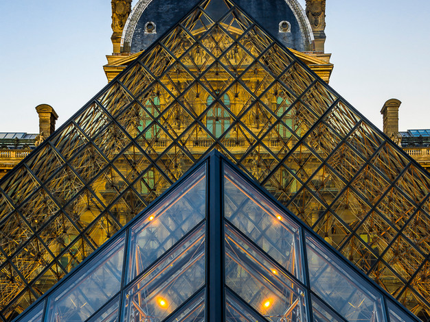 Pyramides du Louvre, Paris, France