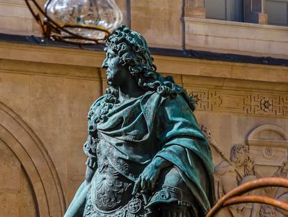 Statue of Louis XIV, Carnavalet Museum, Marais District, Paris, France