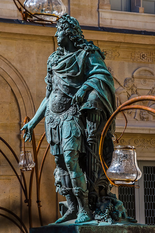 Statue of Louis XIV, Carnavalet Museum, Marais District, Paris, France