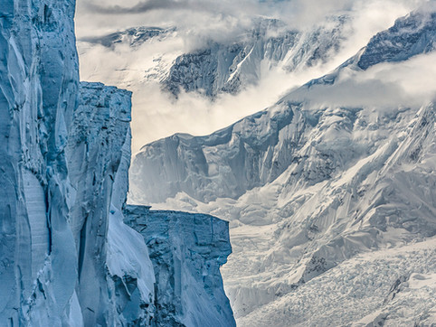 Castellated Iceberg and Mountains, Flandres Bay, Antarctica