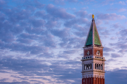 Campanile and Morning Clouds, Venice, Italy