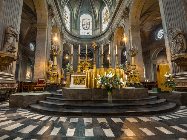 Altar, Church of Saint-Sulpice, Paris, France